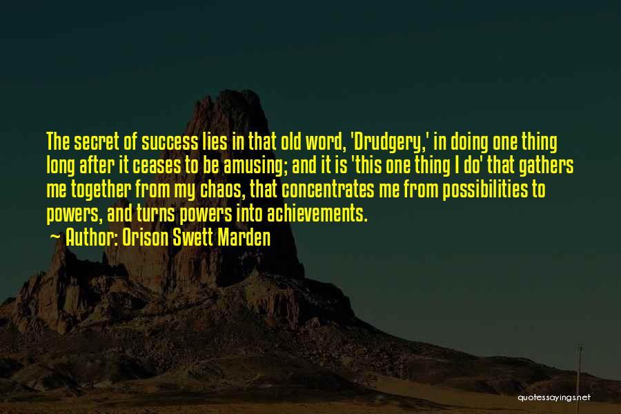 My Achievements Quotes By Orison Swett Marden