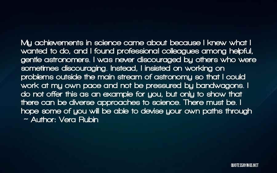 My Achievements Quotes By Vera Rubin