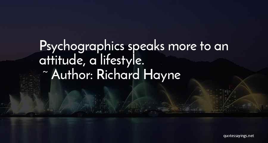 My Attitude Speaks Quotes By Richard Hayne
