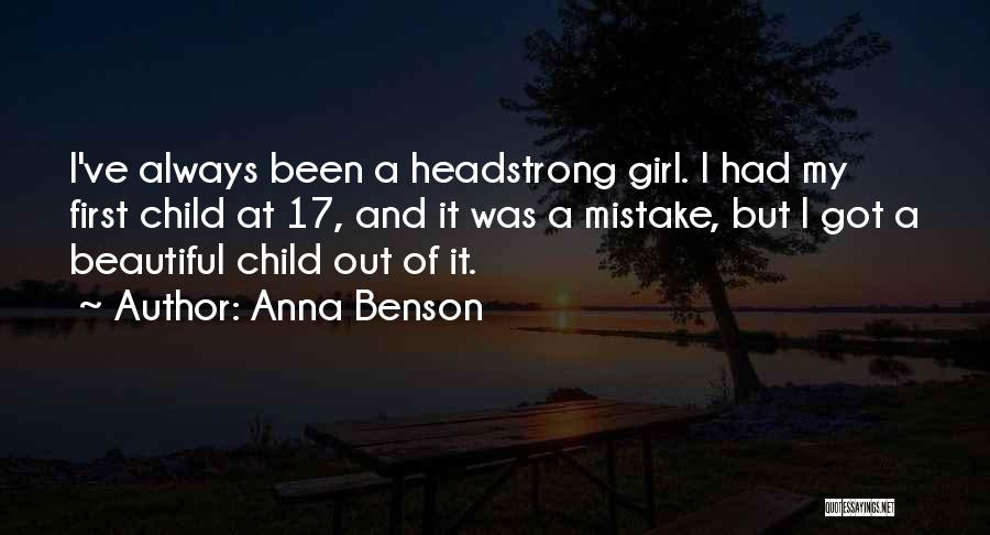 My Beautiful Child Quotes By Anna Benson