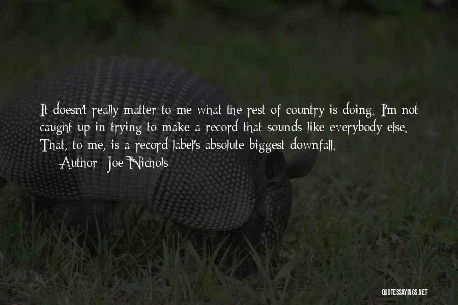 My Biggest Downfall Quotes By Joe Nichols