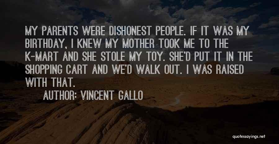 My Birthday Mother Quotes By Vincent Gallo