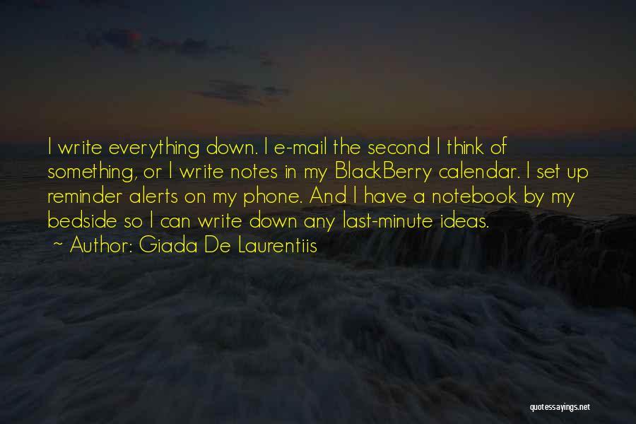 My Blackberry Quotes By Giada De Laurentiis