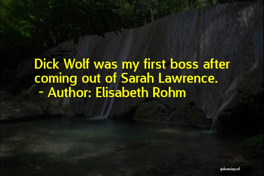My Boss Quotes By Elisabeth Rohm
