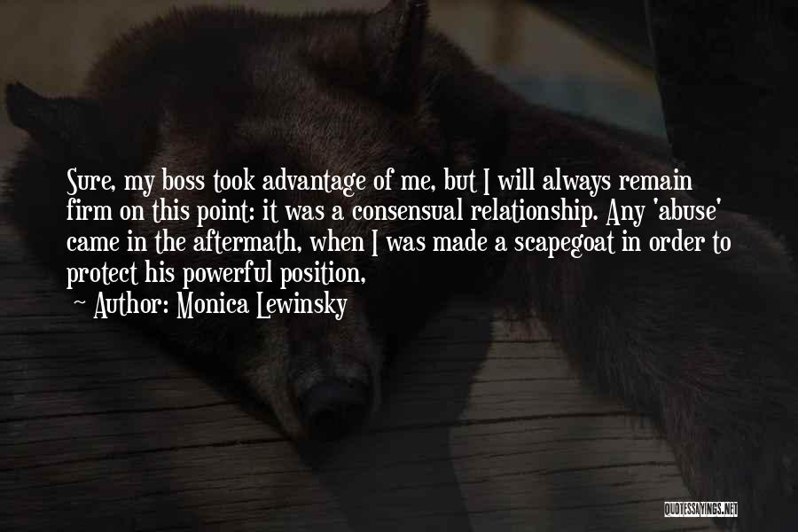 My Boss Quotes By Monica Lewinsky