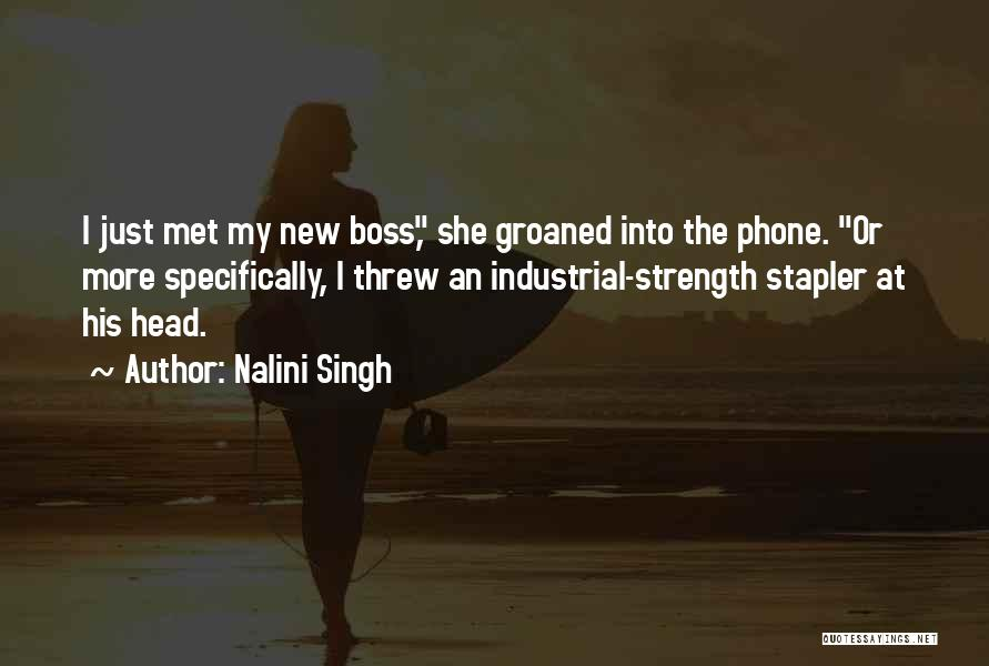My Boss Quotes By Nalini Singh