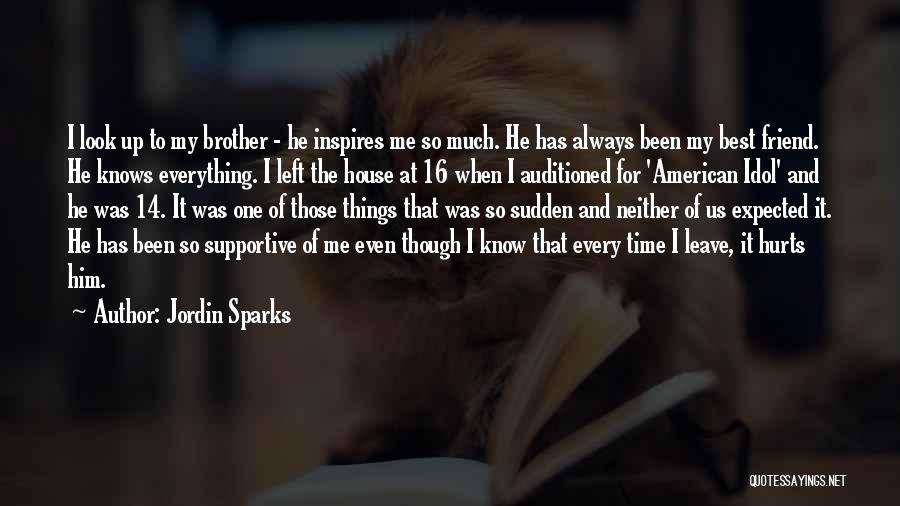My Brother Inspires Me Quotes By Jordin Sparks