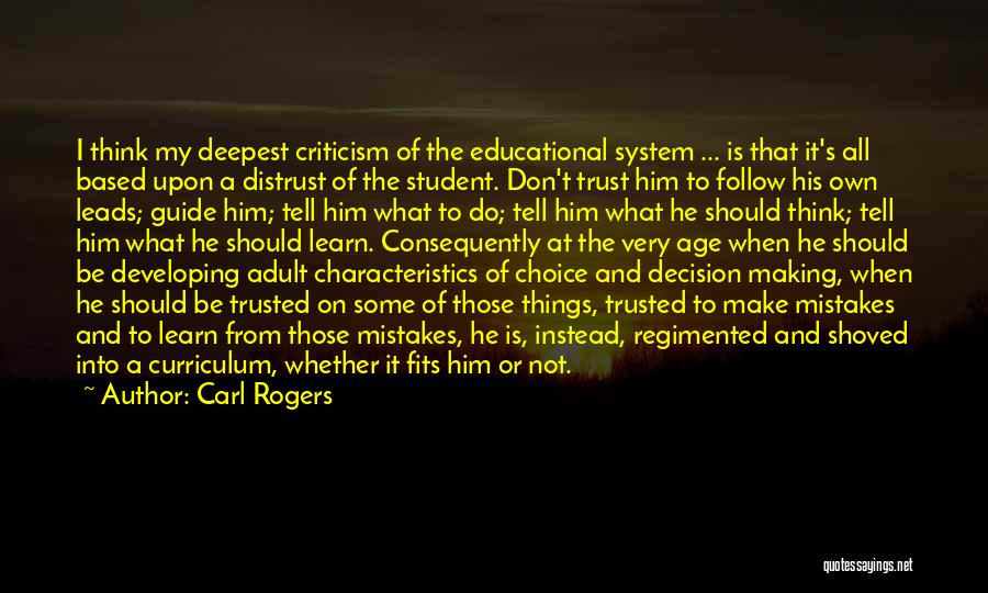 My Characteristics Quotes By Carl Rogers