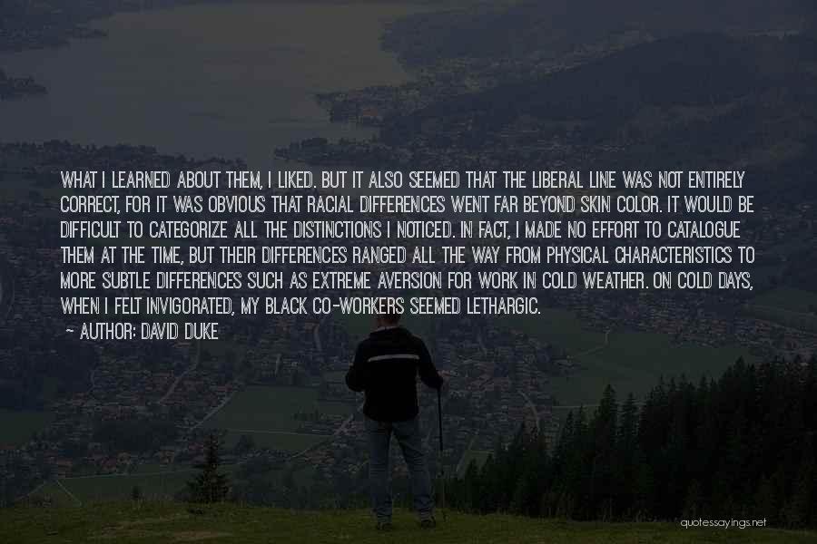 My Characteristics Quotes By David Duke