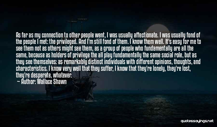 My Characteristics Quotes By Wallace Shawn