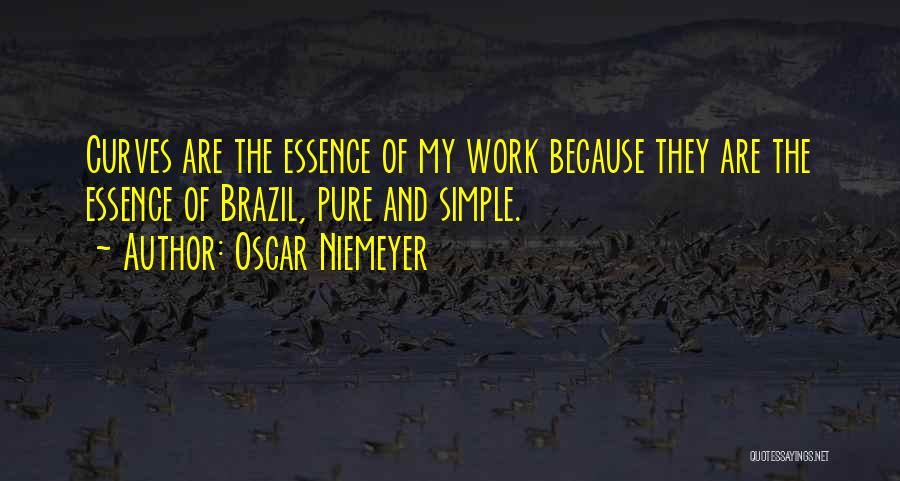 My Curves Quotes By Oscar Niemeyer