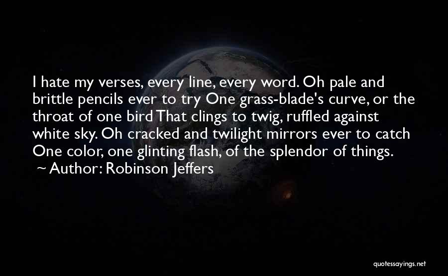My Curves Quotes By Robinson Jeffers