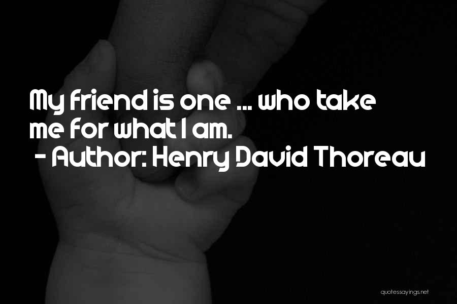 My Cute Friend Quotes By Henry David Thoreau