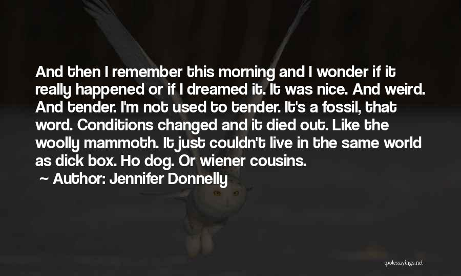 My Dog That Died Quotes By Jennifer Donnelly