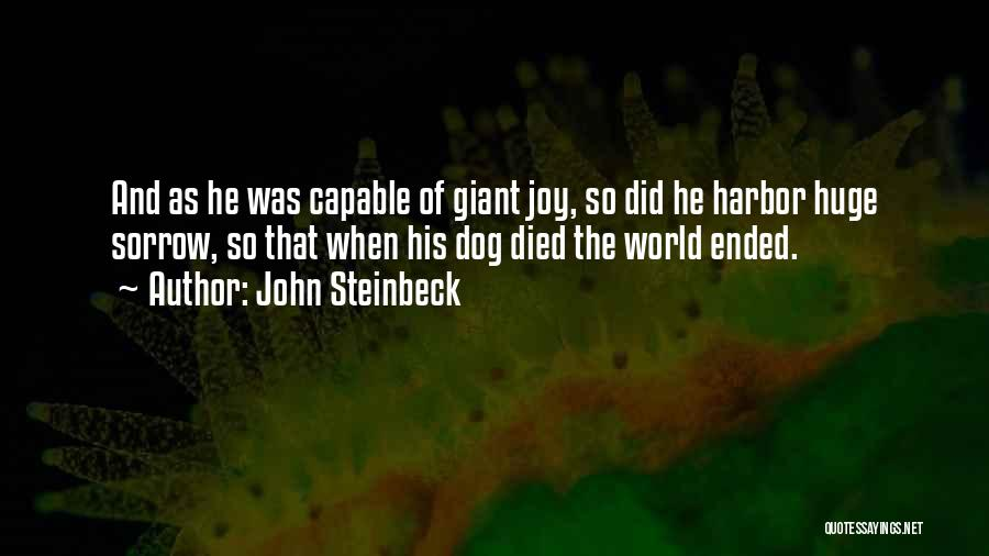 My Dog That Died Quotes By John Steinbeck