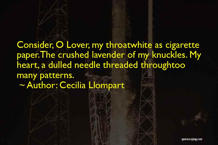 My Ex Lover Quotes By Cecilia Llompart