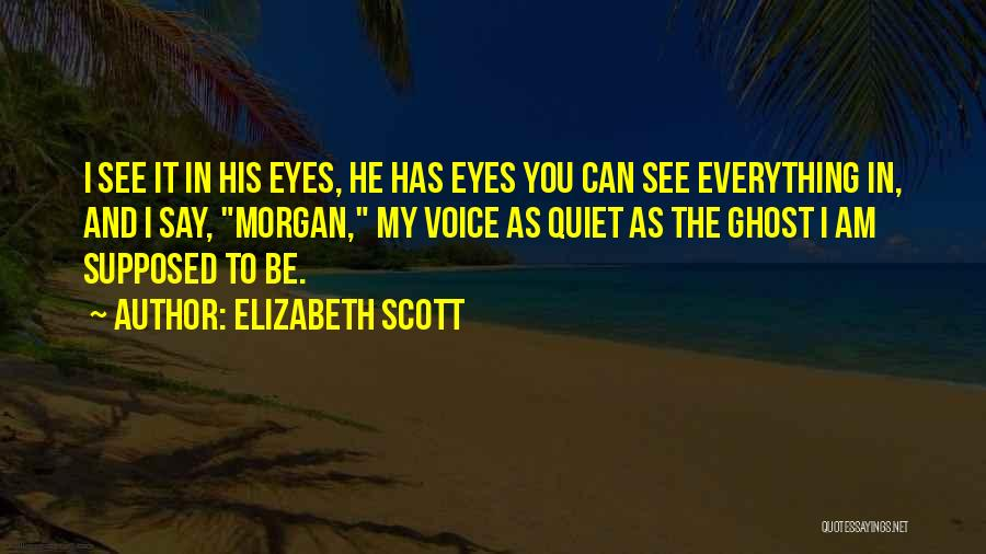 My Eyes See Everything Quotes By Elizabeth Scott
