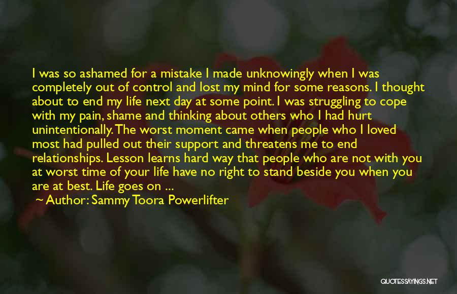 My Family Hurt Me Quotes By Sammy Toora Powerlifter