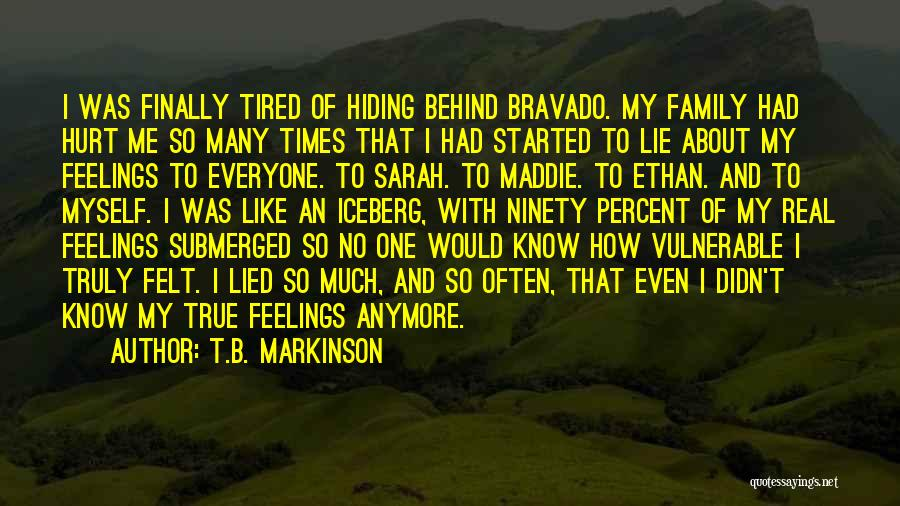 My Family Hurt Me Quotes By T.B. Markinson