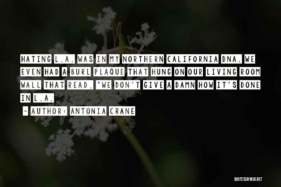 My Give A Damn Quotes By Antonia Crane