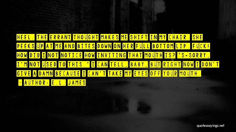 My Give A Damn Quotes By E.L. James