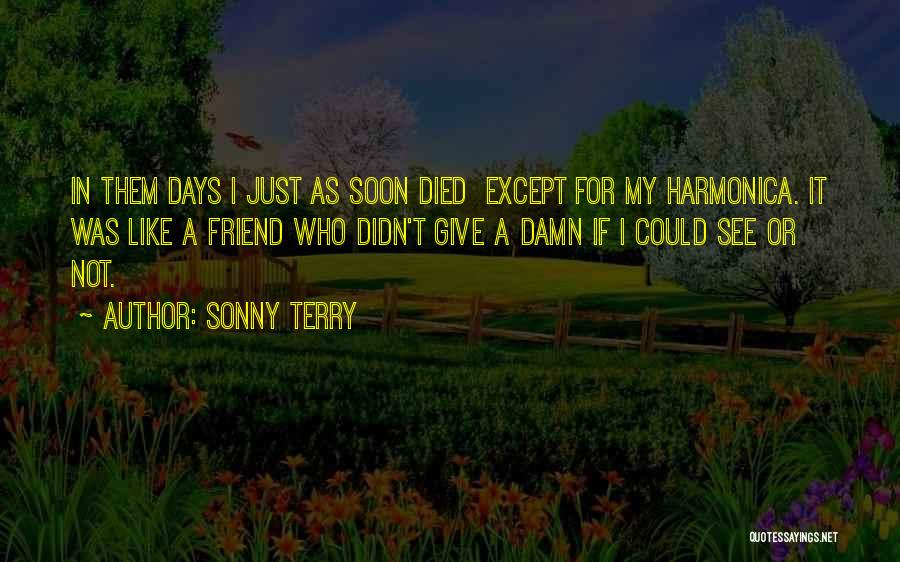 My Give A Damn Quotes By Sonny Terry