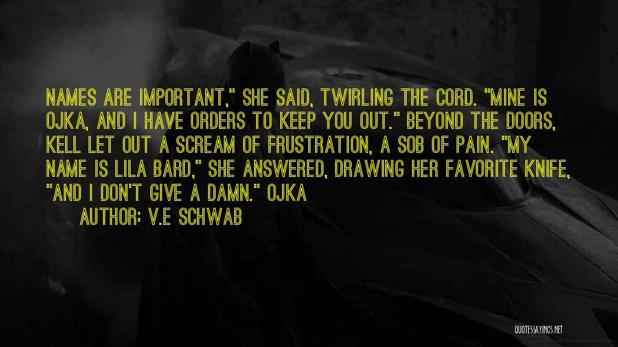 My Give A Damn Quotes By V.E Schwab