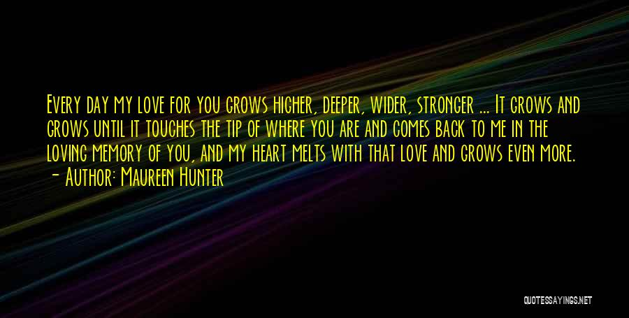 My Heart Melts Quotes By Maureen Hunter