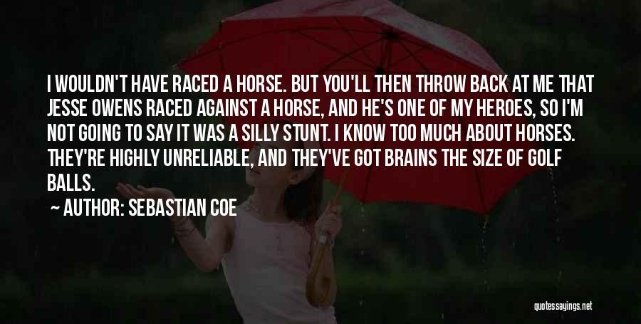 My Horse Quotes By Sebastian Coe