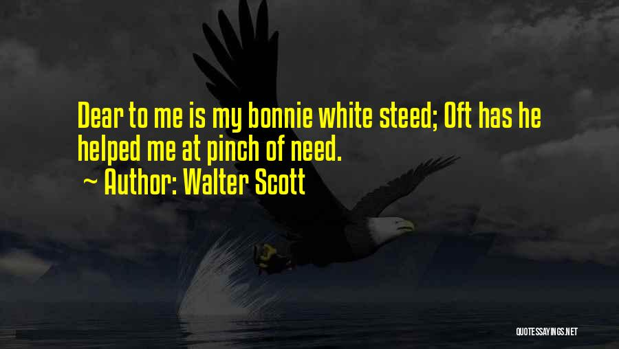 My Horse Quotes By Walter Scott