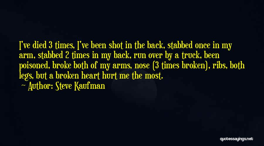 My Legs Hurt Quotes By Steve Kaufman