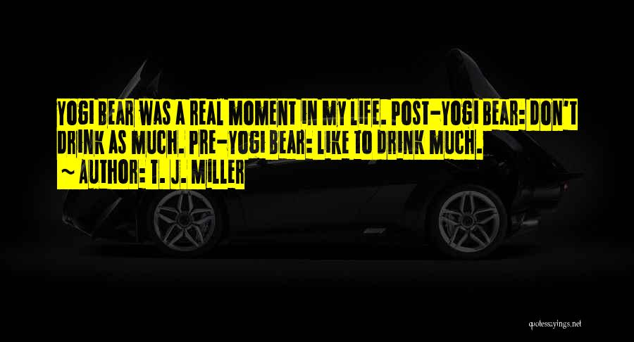 My Life Goes On Without You Quotes By T. J. Miller