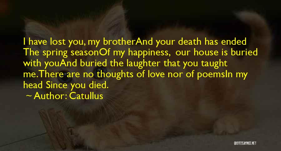 My Lost Brother Quotes By Catullus