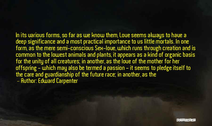My Love For You Runs So Deep Quotes By Edward Carpenter