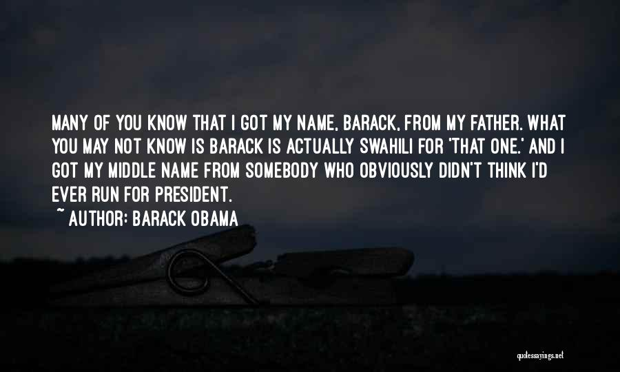 My Name Quotes By Barack Obama