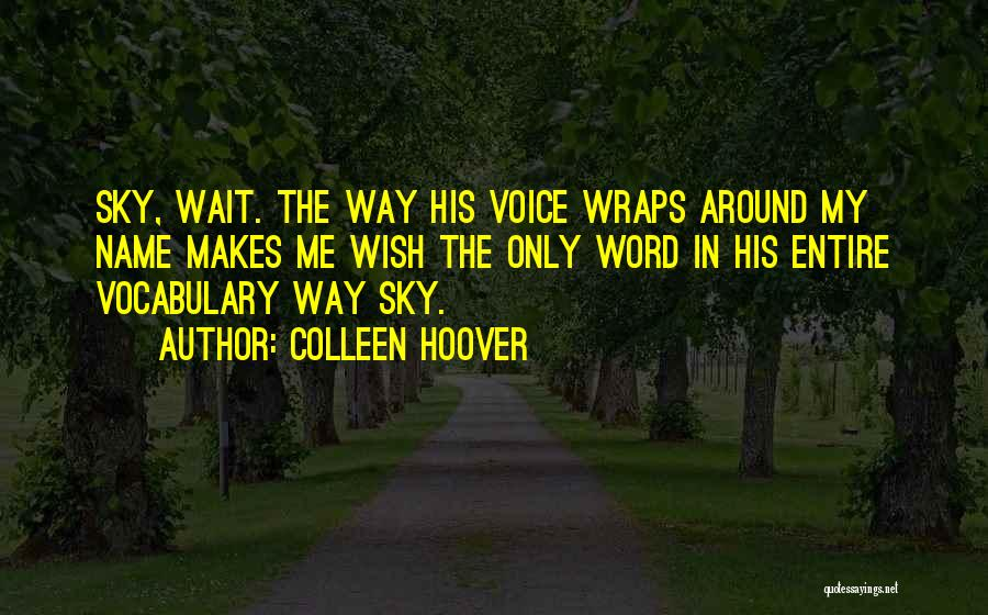 My Name Quotes By Colleen Hoover