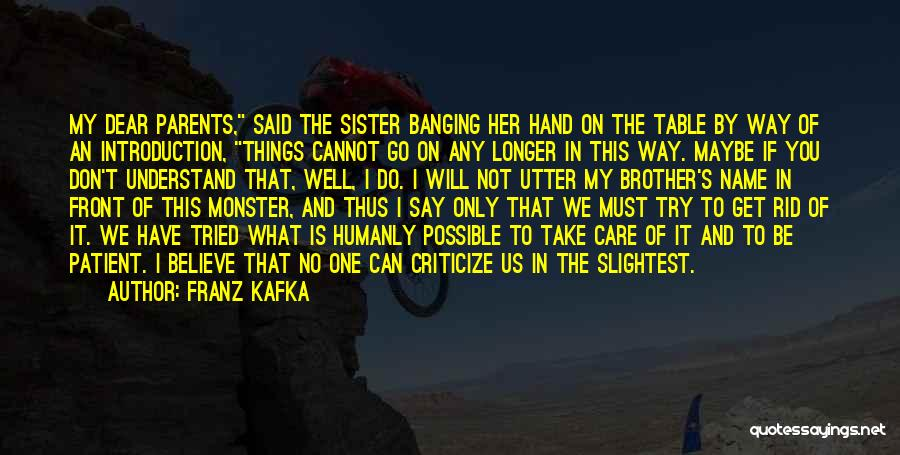 My One And Only Brother Quotes By Franz Kafka