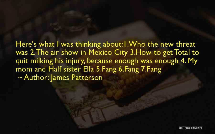 My Other Half Sister Quotes By James Patterson