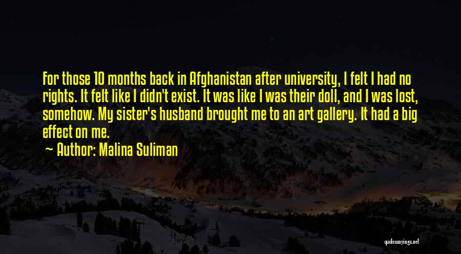 My Sister And Her Husband Quotes By Malina Suliman