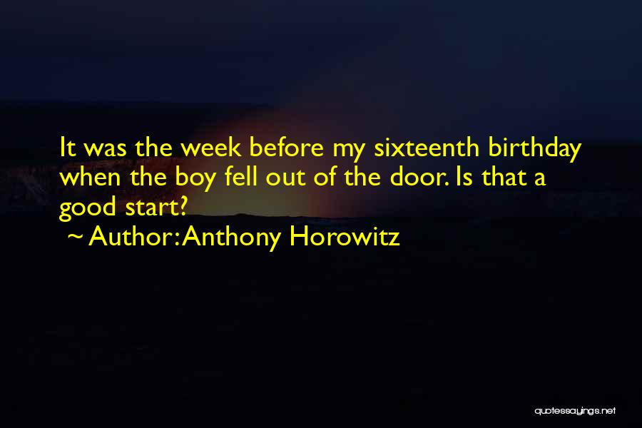My Sixteenth Birthday Quotes By Anthony Horowitz