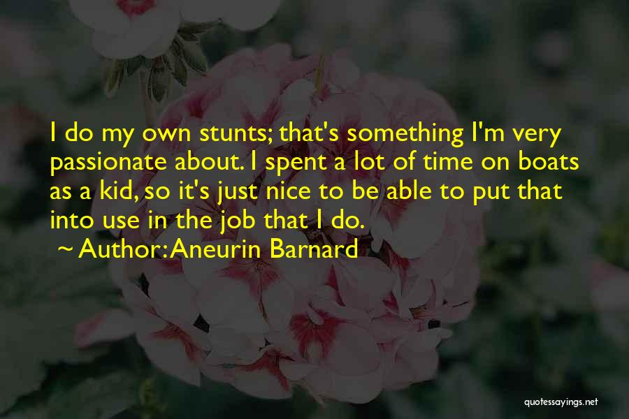 My Stunts Quotes By Aneurin Barnard