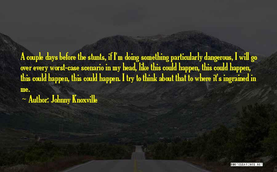 My Stunts Quotes By Johnny Knoxville