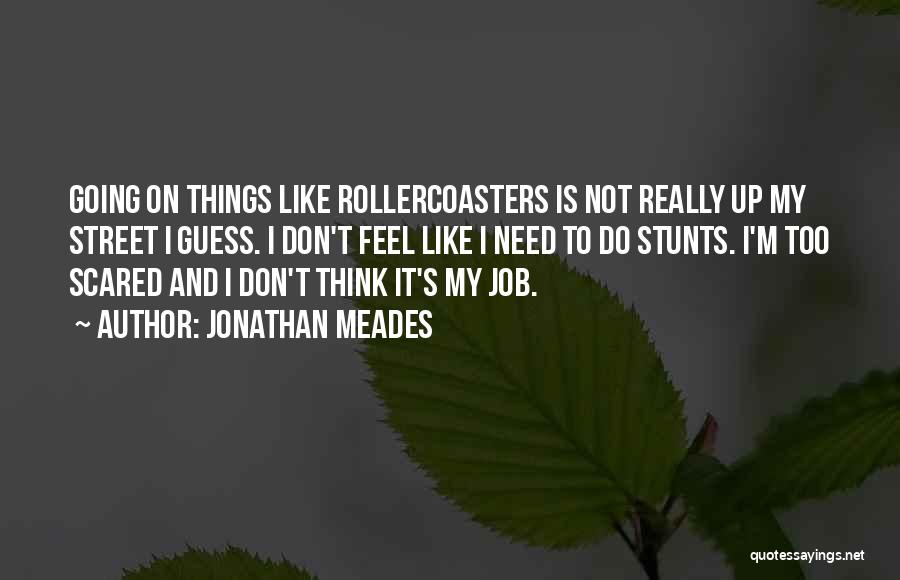 My Stunts Quotes By Jonathan Meades