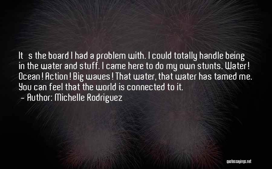 My Stunts Quotes By Michelle Rodriguez