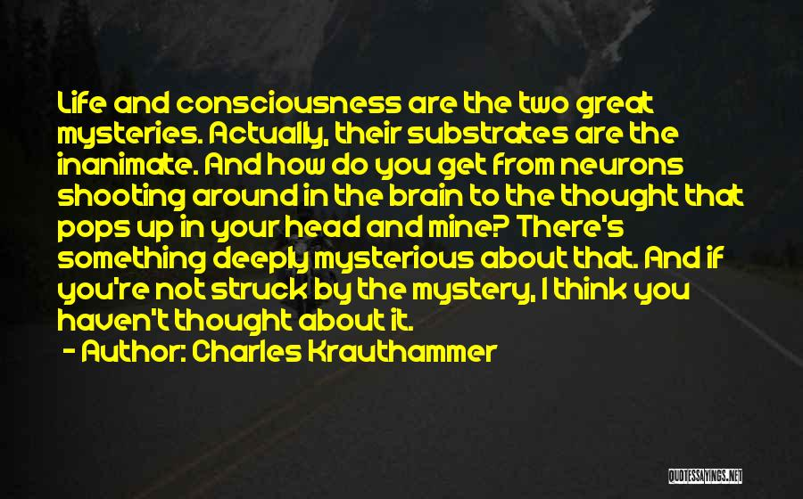 Mysteries Quotes By Charles Krauthammer