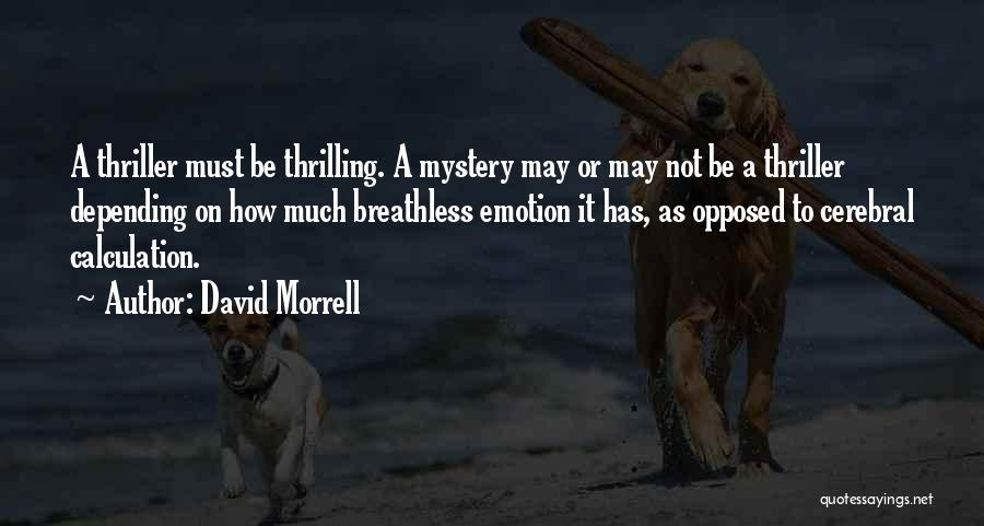 Mystery Thriller Quotes By David Morrell