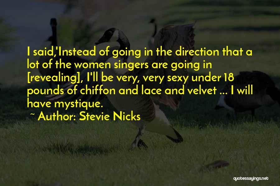 Mystique Quotes By Stevie Nicks