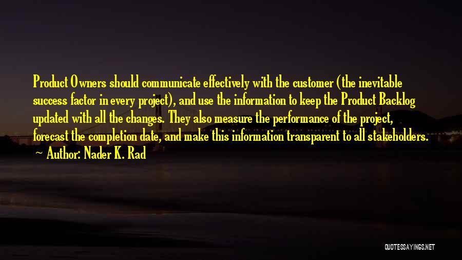 Nader K. Rad Quotes 654706