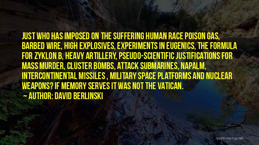 Napalm Quotes By David Berlinski