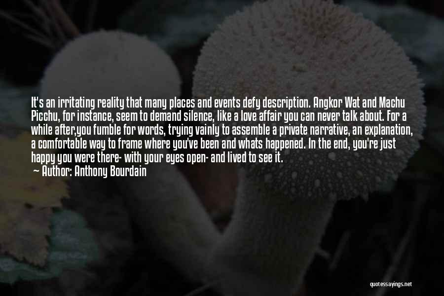 Narrative Love Quotes By Anthony Bourdain
